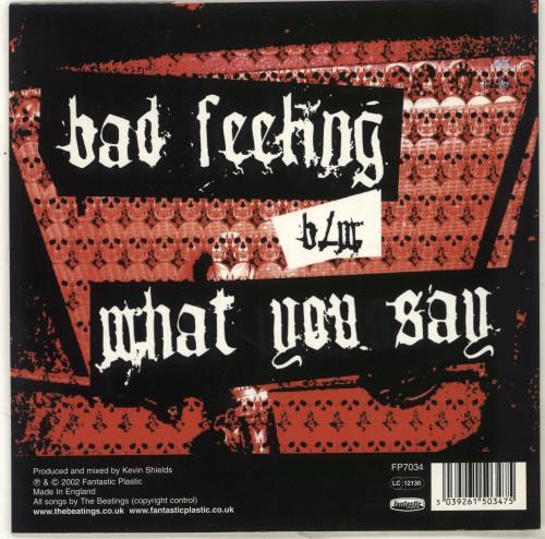"The Beatings Bad Feeling 7"" vinyl single (7 inch record) UK T/B07BA250440"