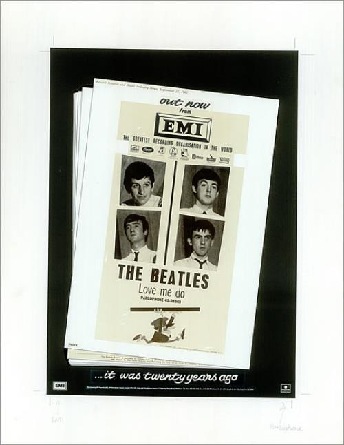 The Beatles ...It Was Twenty Years Ago - Music Week Ad artwork UK BTLARIT140214