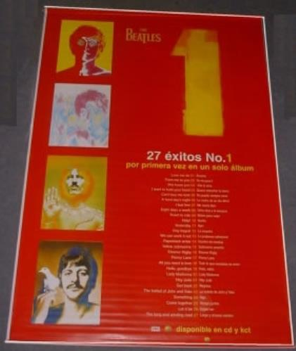 The Beatles 1 - One - Promotional Banner display Mexican BTLDION172464