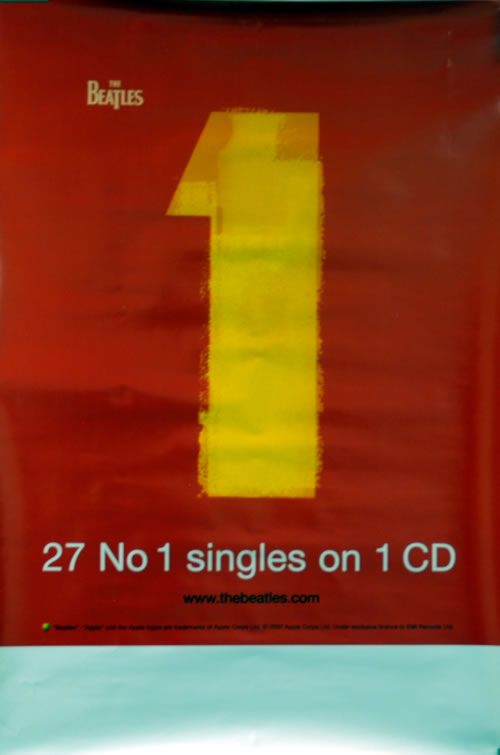 The Beatles 1 - One poster UK BTLPOON610379