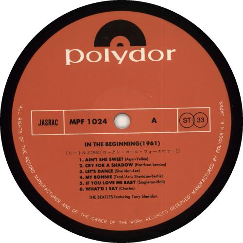 The Beatles 1961 - nineteen vinyl LP album (LP record) Japanese BTLLPNI200575