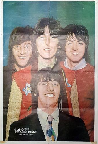 The Beatles 1968 Souvenir Fan Club Poster poster UK BTLPOSO761708