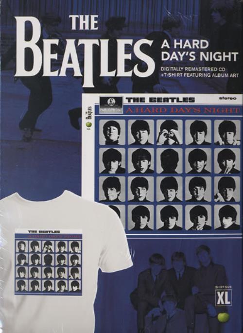 The Beatles A Hard Day's Night + T-Shirt CD album (CDLP) US BTLCDAH491057