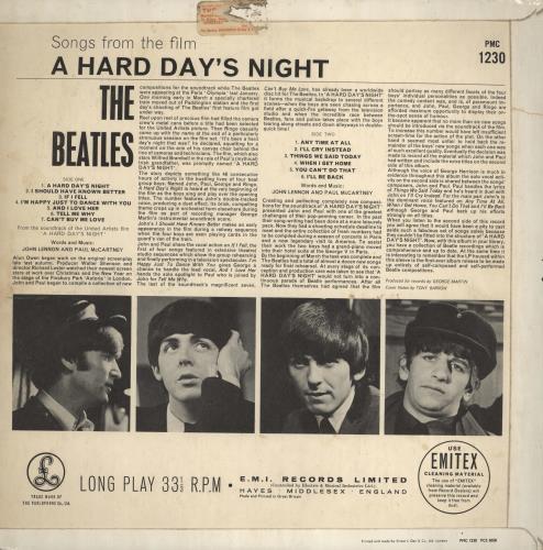The Beatles A Hard Day's Night - 1st - EJD - VG vinyl LP album (LP record) UK BTLLPAH631881