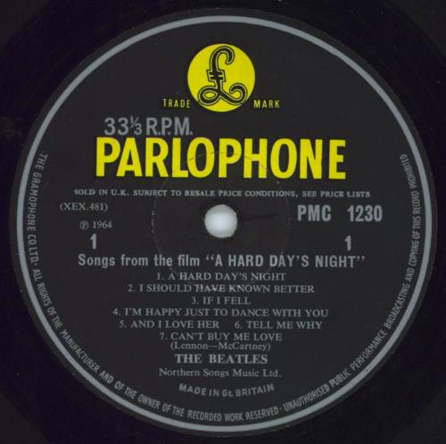 The Beatles A Hard Day's Night - 1st - G&L - VG vinyl LP album (LP record) UK BTLLPAH268120