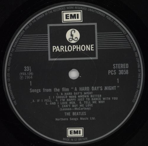 The Beatles A Hard Day's Night - 2 Box - Gram - F/B vinyl LP album (LP record) UK BTLLPAH542034