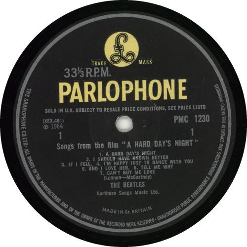 The Beatles A Hard Day's Night - 2nd - VG vinyl LP album (LP record) UK BTLLPAH574716