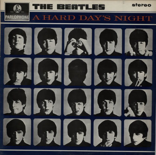The Beatles A Hard Day's Night - EMI - Glossy vinyl LP album (LP record) UK BTLLPAH585414