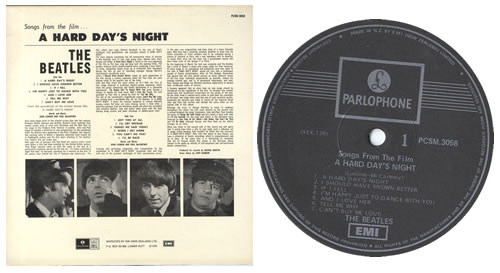The Beatles A Hard Days Night - One Box - F/L vinyl LP album (LP record) New Zealand BTLLPAH550091