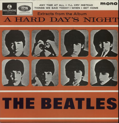 Cd single the beatles any time at all 4-track card sleeve