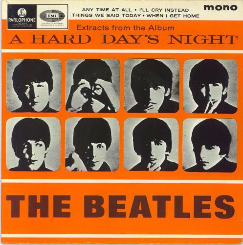 "The Beatles A Hard Day's Night EP No. 2 - EMI Records 7"" vinyl single (7 inch record) UK BTL07AH280703"