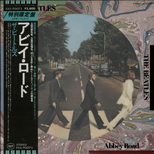 The Beatles Abbey Road + Obi picture disc LP (vinyl picture disc album) Japanese BTLPDAB253086