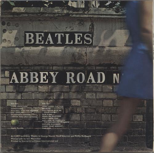 The Beatles Abbey Road - 1st - EX vinyl LP album (LP record) UK BTLLPAB372582