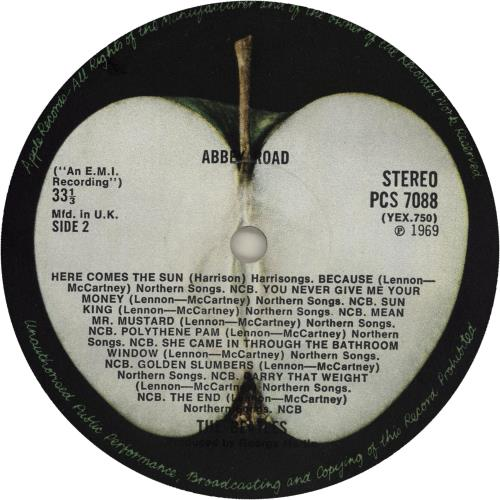 The Beatles Abbey Road - 1st - M/A - VG vinyl LP album (LP record) UK BTLLPAB751173