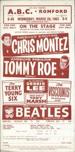 The Beatles ABC Romford, March 20th 1963 + Ticket handbill UK BTLHBAB693728