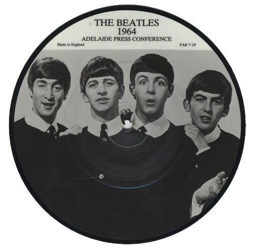 "The Beatles Adelaide Press Conference 7"" vinyl picture disc 7 inch picture disc single UK BTL7PAD431410"