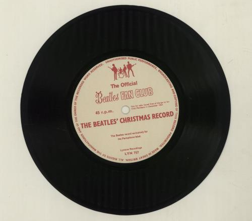 """The Beatles Another Beatles Christmas Record - EX + P/S 7"""" vinyl single (7 inch record) UK BTL07AN268402"""
