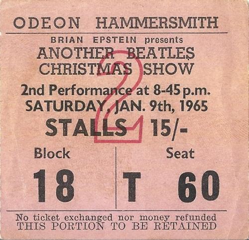 The Beatles Another Beatles Christmas Show + Ticket tour programme UK BTLTRAN317561