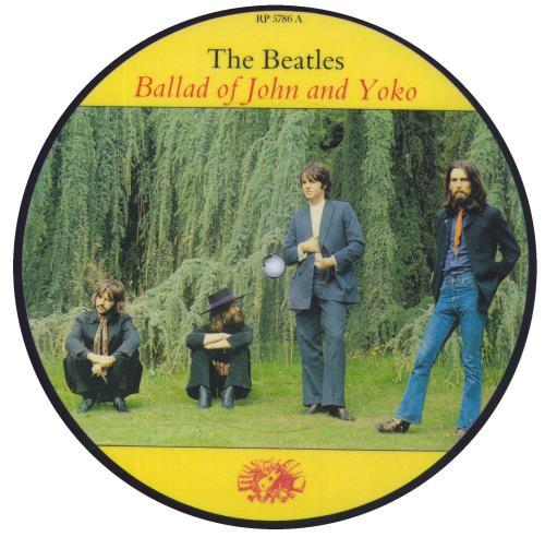 "The Beatles Ballad Of John & Yoko + Insert 7"" vinyl picture disc 7 inch picture disc single UK BTL7PBA38787"