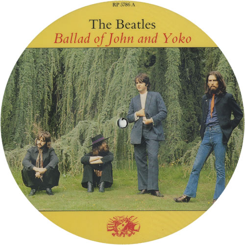"The Beatles Ballad Of John & Yoko 7"" vinyl picture disc 7 inch picture disc single UK BTL7PBA456542"