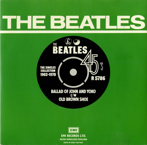 "The Beatles Ballad Of John And Yoko - 1976 7"" vinyl single (7 inch record) UK BTL07BA553385"