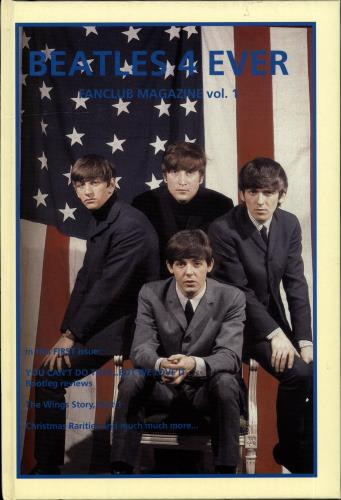 The Beatles Beatles 4 Ever - Fanclub Magazine Vol. 1 book Dutch BTLBKBE705292