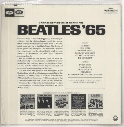 The Beatles Beatles '65 - 1st - shrink vinyl LP album (LP record) US BTLLPBE211823
