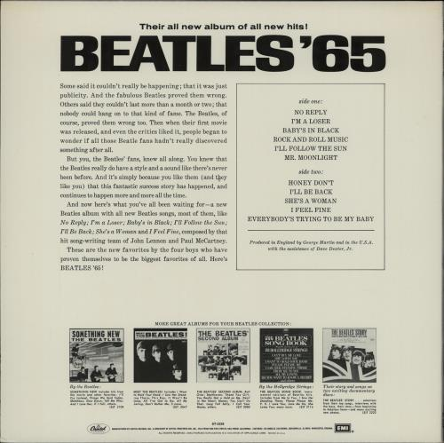 The Beatles Beatles '65 - Peach Label vinyl LP album (LP record) US BTLLPBE764633