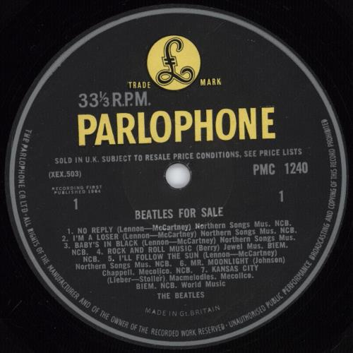 The Beatles Beatles For Sale - 1st [-3N/-3N] vinyl LP album (LP record) UK BTLLPBE768233