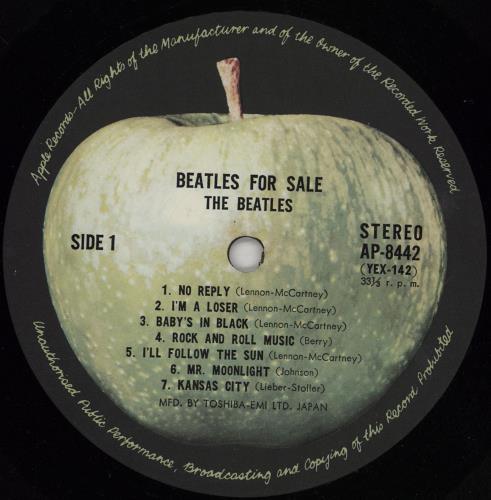 The Beatles Beatles For Sale - 2nd Apple Issue + Beatles Forever Obi - VG/EX vinyl LP album (LP record) Japanese BTLLPBE756541