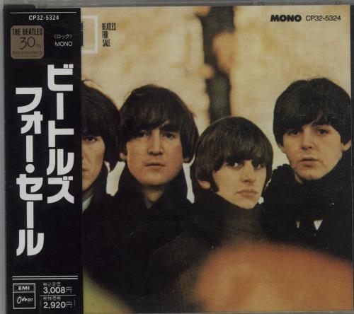 The Beatles Beatles For Sale - Black Obi-Strip CD album (CDLP) Japanese BTLCDBE666454