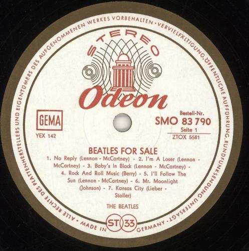 The Beatles Beatles For Sale German Vinyl Lp Album Lp