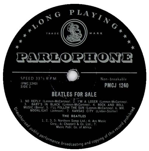 The Beatles Beatles For Sale vinyl LP album (LP record) South African BTLLPBE468139