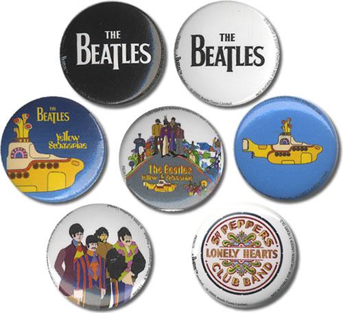 The Beatles Button Badge Set Uk Badge 409683