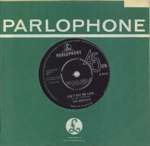"The Beatles Can't Buy Me Love - 1st 7"" vinyl single (7 inch record) UK BTL07CA64899"