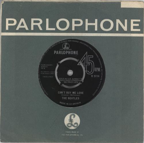 "The Beatles Can't Buy Me Love - Oriole 7"" vinyl single (7 inch record) UK BTL07CA551784"