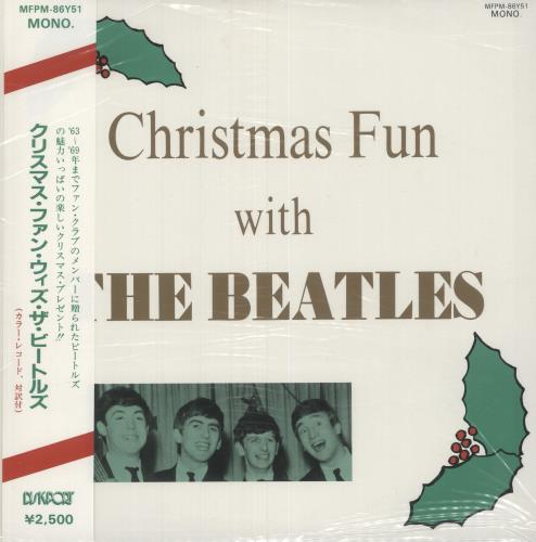"The Beatles Christmas Fun With The Beatles - White Vinyl + Obi 10"" vinyl single (10"" record) Japanese BTL10CH215038"