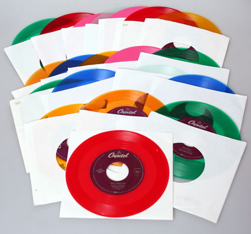 "The Beatles Collection Of Coloured Vinyl Jukebox Issue 7""s 7"" vinyl single (7 inch record) US BTL07CO583159"