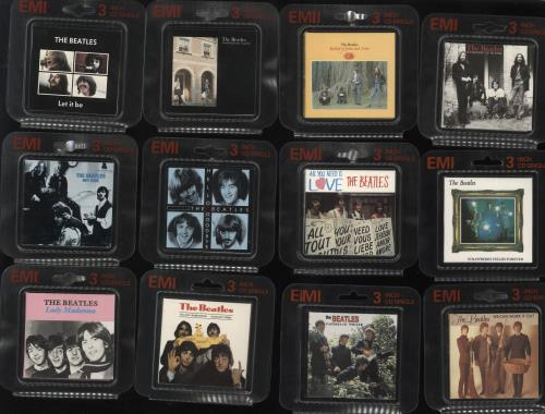 "The Beatles Complete Set Of Twenty Two in Bubblepacks 3"" CD single (CD3) UK BTLC3CO372342"