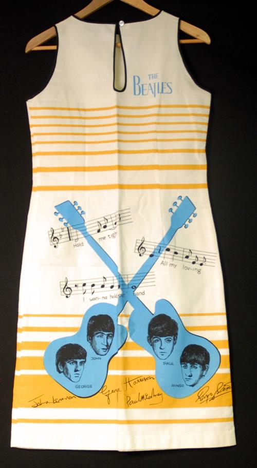 The Beatles Dress - Beige Stripes/Blue Logo memorabilia Dutch BTLMMDR398974