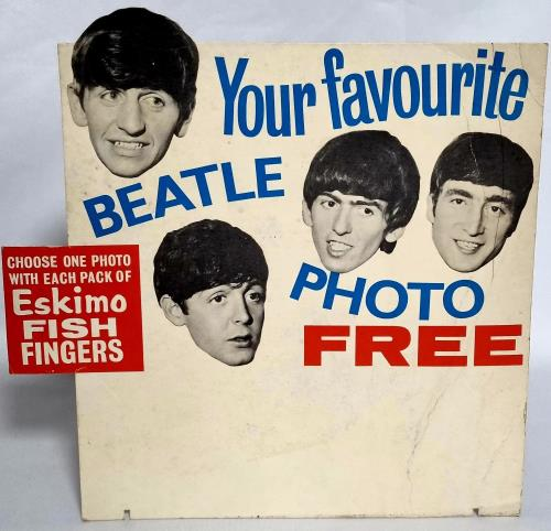 The Beatles Eskimo Fish Fingers + 4 Cards display UK BTLDIES733712