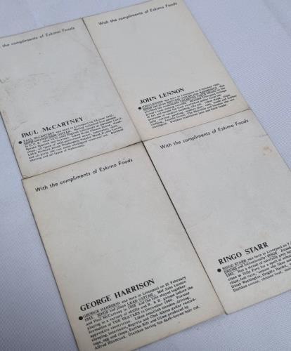 The Beatles Eskimo Fish Fingers + 4 Cards display UK BTLDIES733712