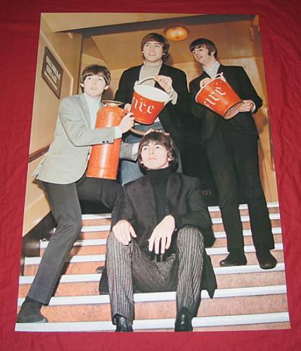 The Beatles Firemen poster Japanese BTLPOFI359545