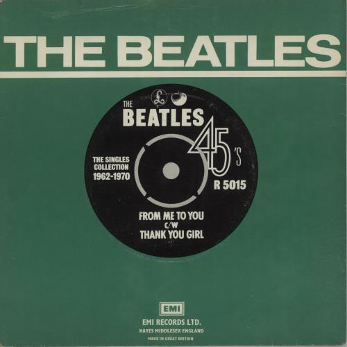 """The Beatles From Me To You - 1976 7"""" vinyl single (7 inch record) UK BTL07FR553384"""