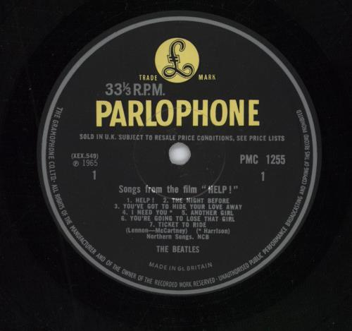 The Beatles Help! - 1st - VG+ vinyl LP album (LP record) UK BTLLPHE268121