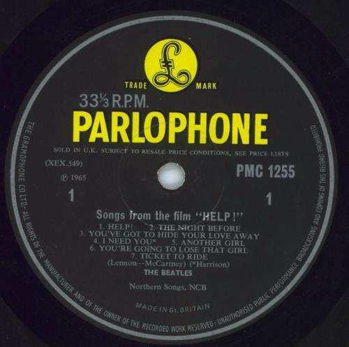 The Beatles Help! - 1st - VG vinyl LP album (LP record) UK BTLLPHE630945