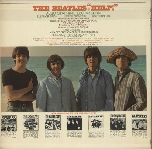 The Beatles Help! - 1st Mono vinyl LP album (LP record) US BTLLPHE266335