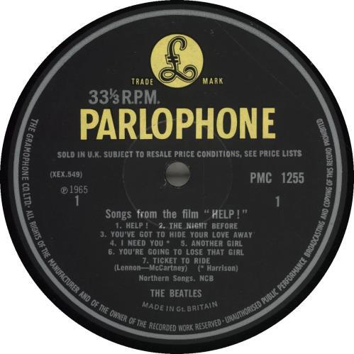 The Beatles Help! - 1st vinyl LP album (LP record) UK BTLLPHE293371
