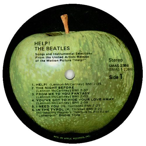 The Beatles Help Apple Us Vinyl Lp Album Lp Record