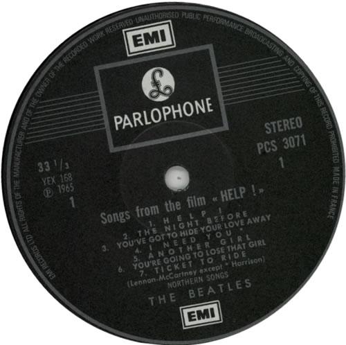 The Beatles Help! - Pathé Marconi vinyl LP album (LP record) UK BTLLPHE313468